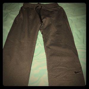 Grey Nike sweatpants
